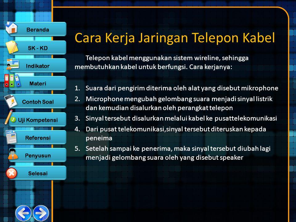 Cara Kerja Jaringan Telepon Kabel