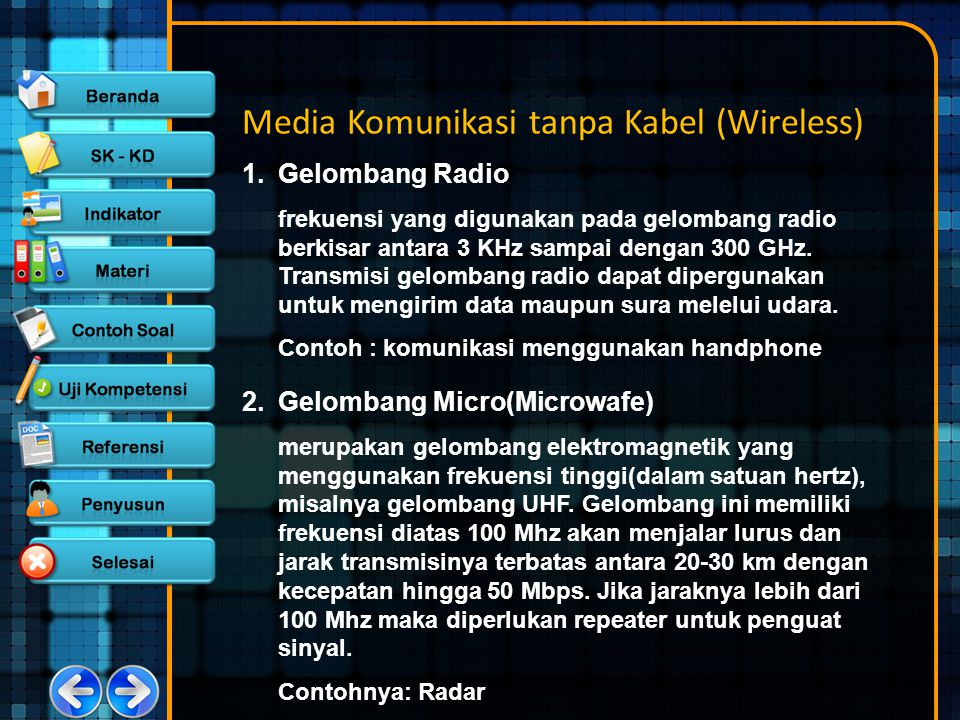 Media Komunikasi tanpa Kabel (Wireless)