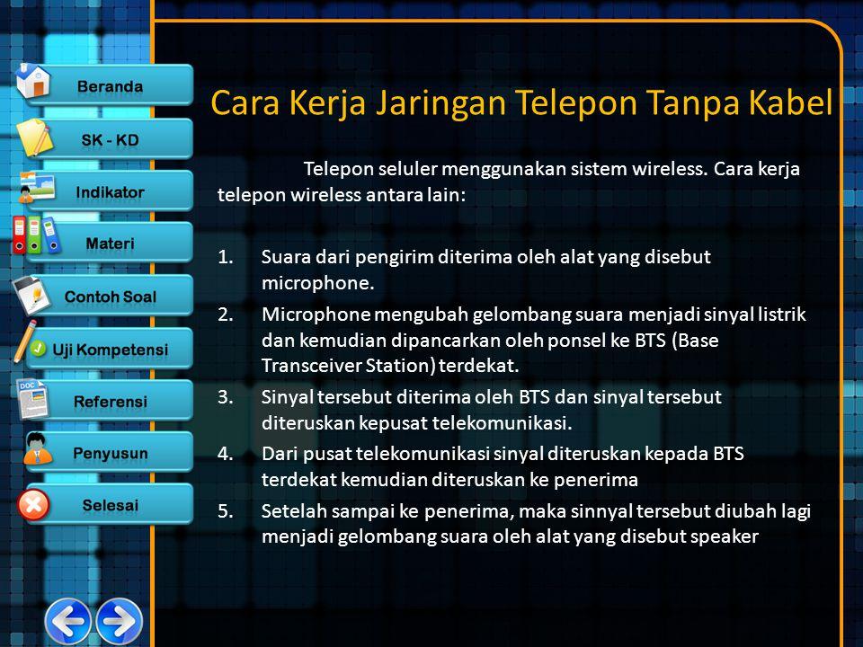 Cara Kerja Jaringan Telepon Tanpa Kabel