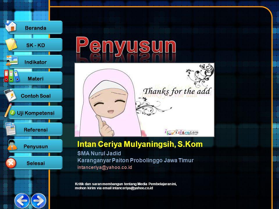 Penyusun Intan Ceriya Mulyaningsih, S.Kom SMA Nurul Jadid