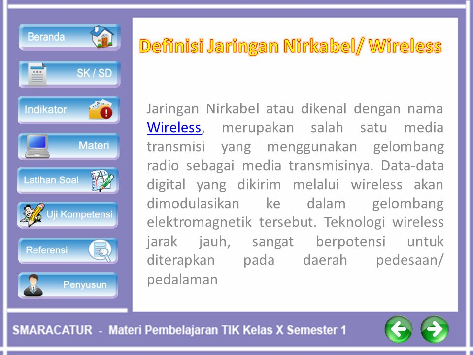 Definisi Jaringan Nirkabel/ Wireless