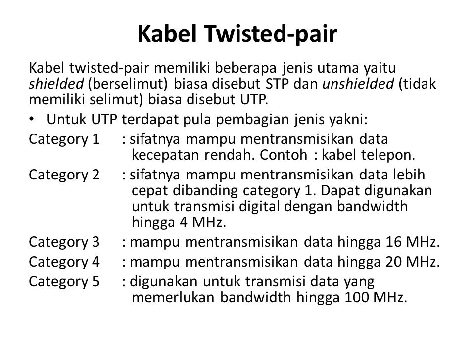 Kabel Twisted-pair