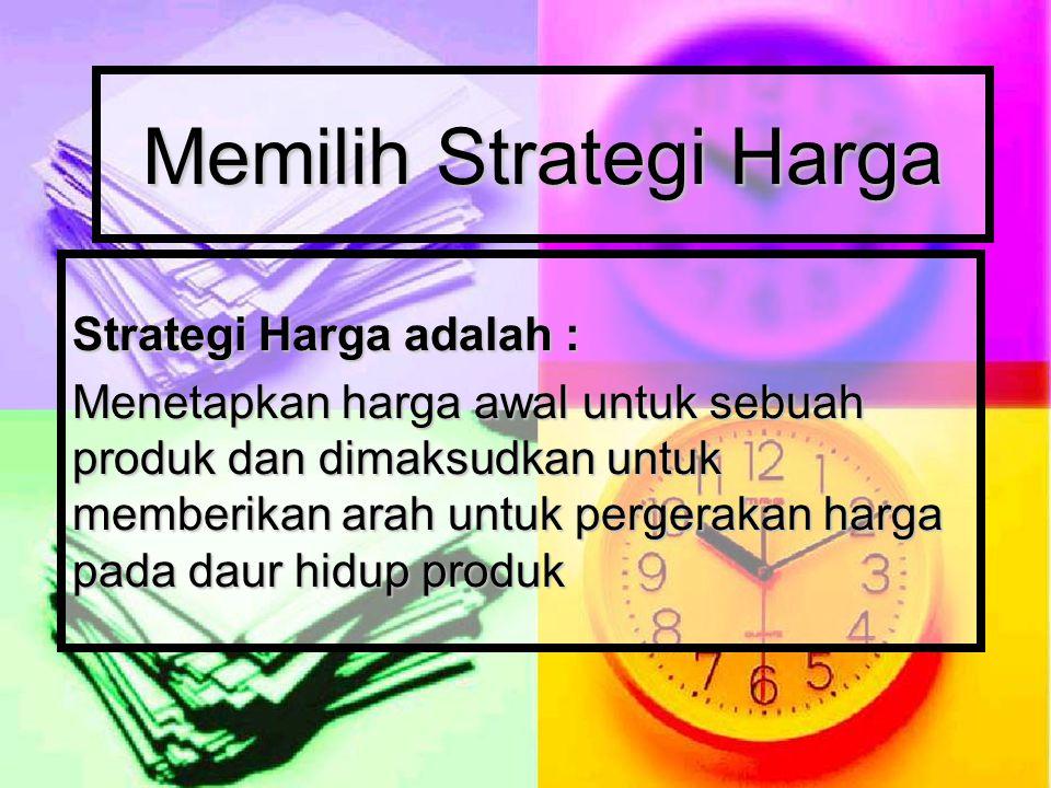 Memilih Strategi Harga