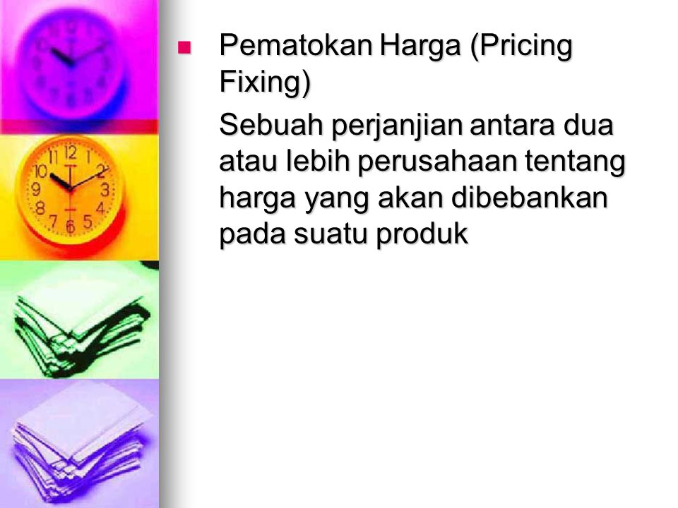 Pematokan Harga (Pricing Fixing)