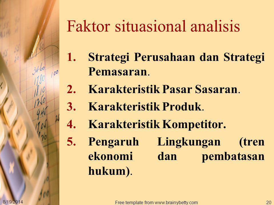 Faktor situasional analisis