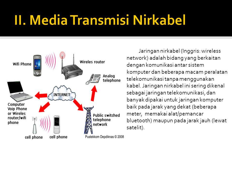 II. Media Transmisi Nirkabel