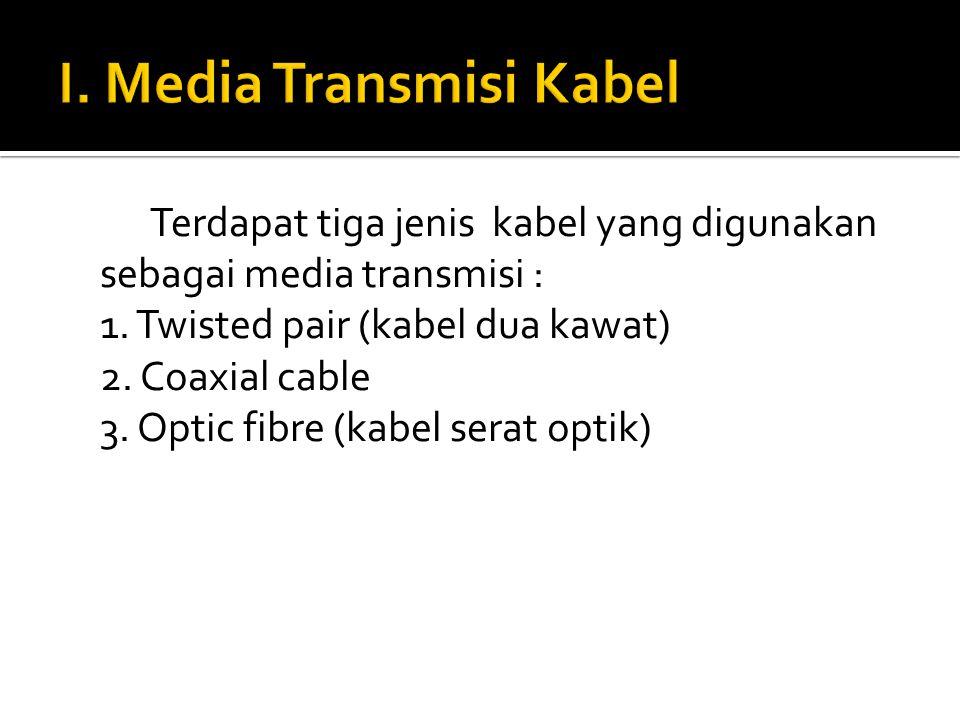 I. Media Transmisi Kabel