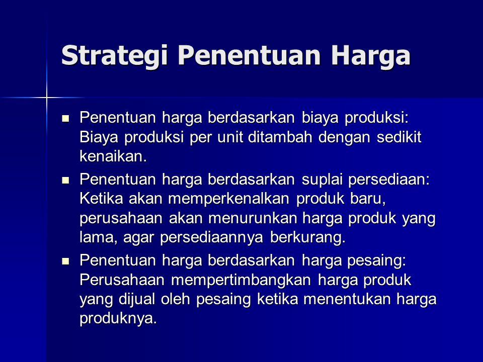 Strategi Penentuan Harga