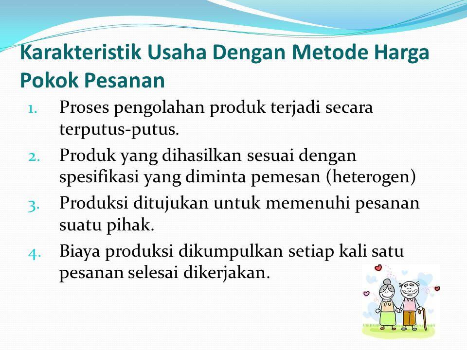 Karakteristik Usaha Dengan Metode Harga Pokok Pesanan