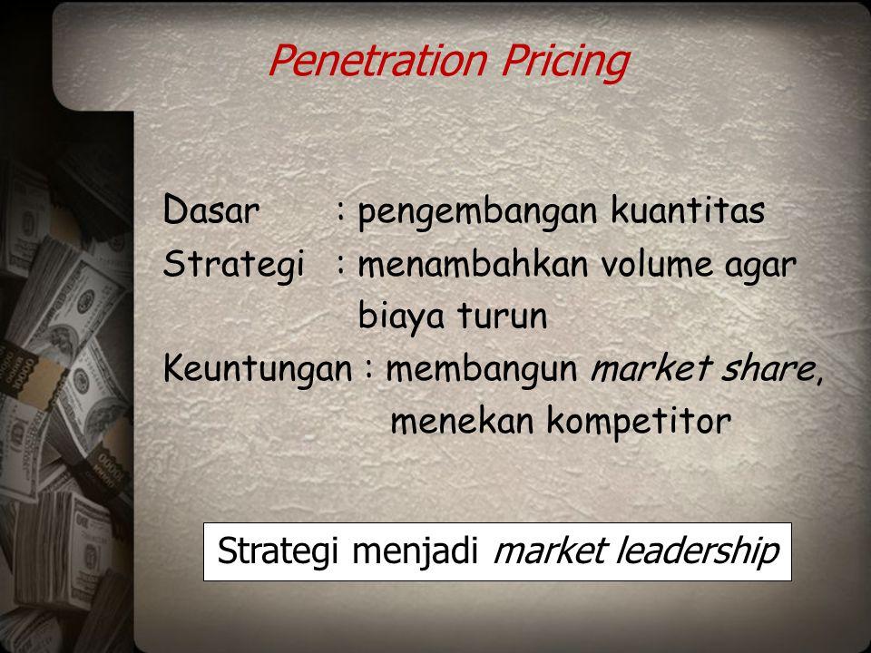 Strategi menjadi market leadership