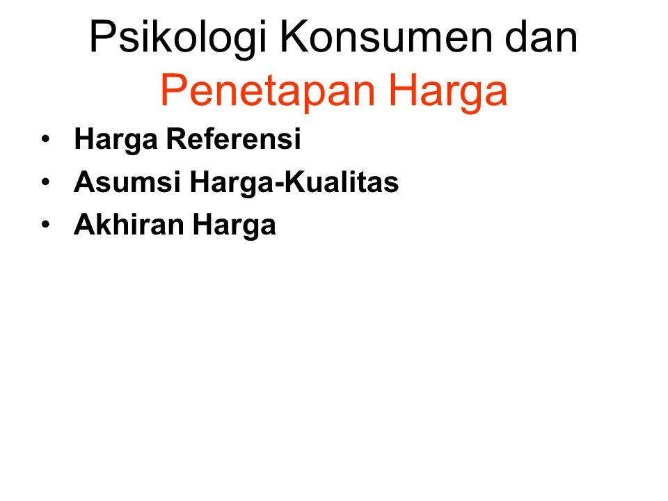 Psikologi Konsumen dan Penetapan Harga