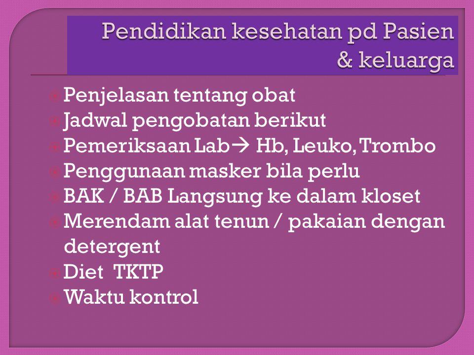 Pendidikan kesehatan pd Pasien & keluarga