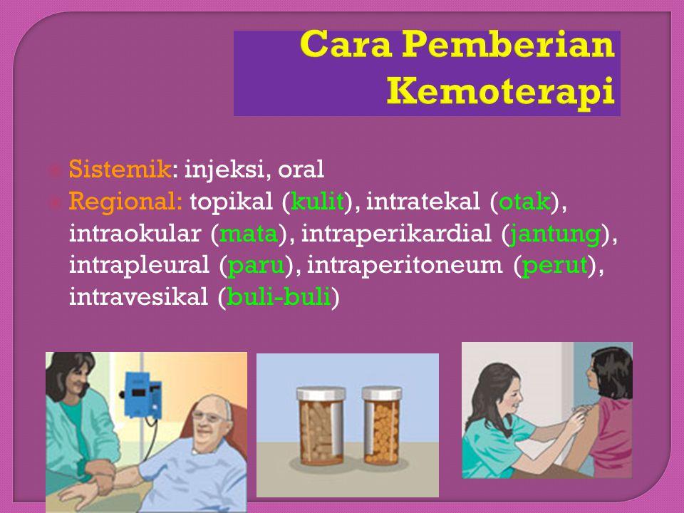 Cara Pemberian Kemoterapi