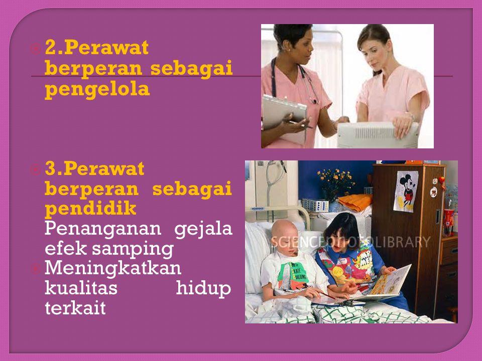 2.Perawat berperan sebagai pengelola