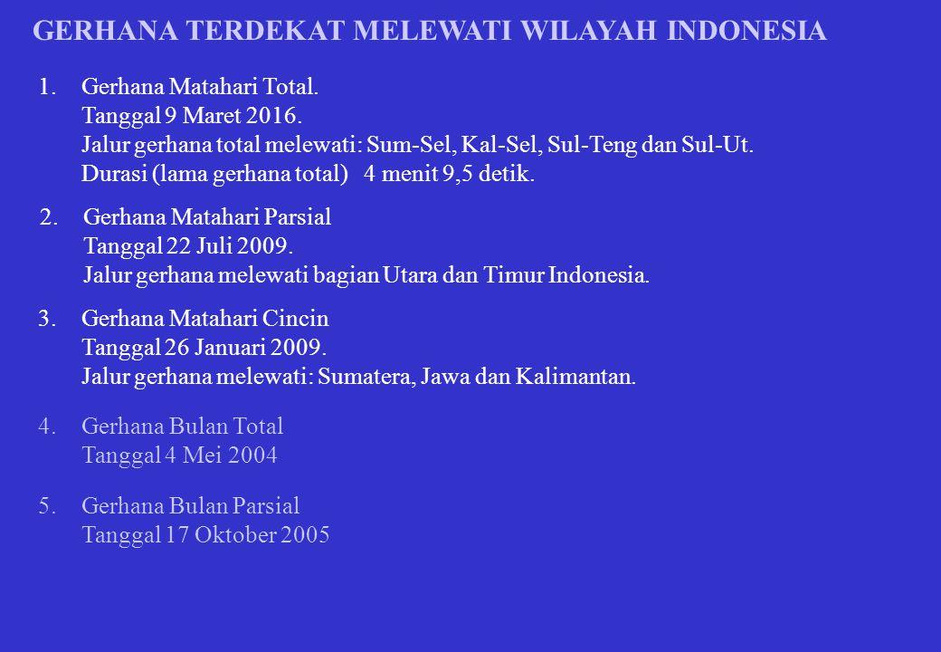 GERHANA TERDEKAT MELEWATI WILAYAH INDONESIA