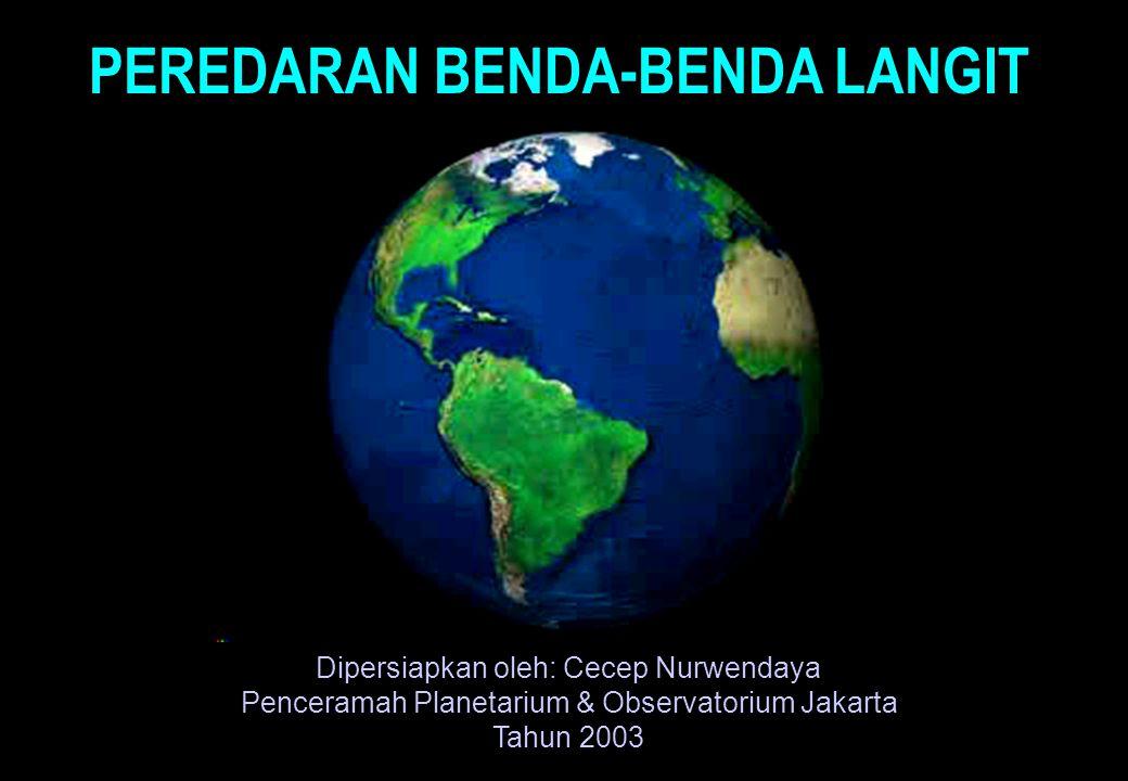 PEREDARAN BENDA-BENDA LANGIT