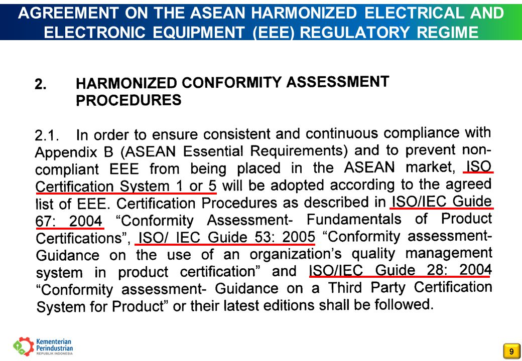 AGREEMENT ON THE ASEAN HARMONIZED ELECTRICAL AND ELECTRONIC EQUIPMENT (EEE) REGULATORY REGIME