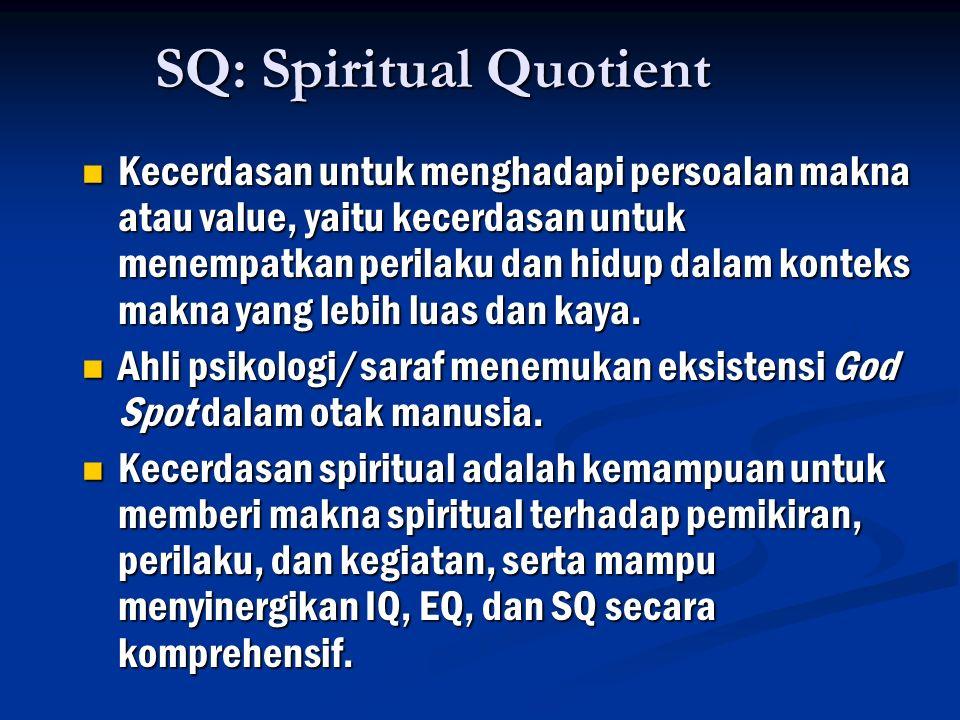 SQ: Spiritual Quotient