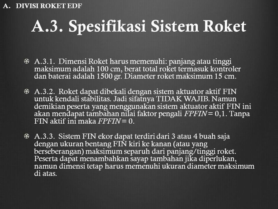 A.3. Spesifikasi Sistem Roket