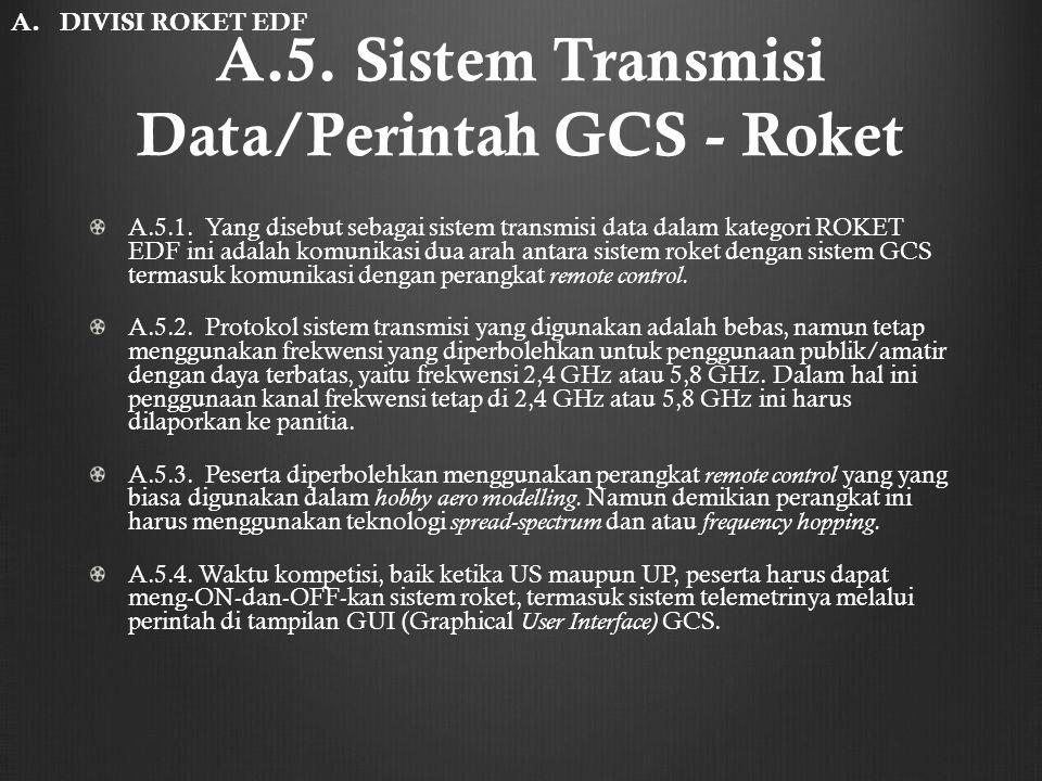 A.5. Sistem Transmisi Data/Perintah GCS - Roket