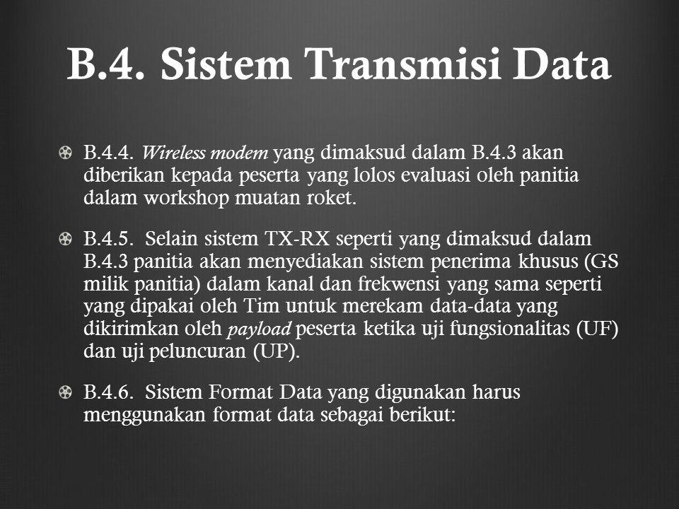 B.4. Sistem Transmisi Data