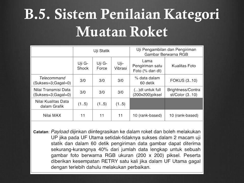 B.5. Sistem Penilaian Kategori Muatan Roket