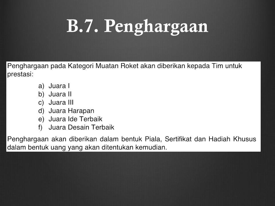 B.7. Penghargaan