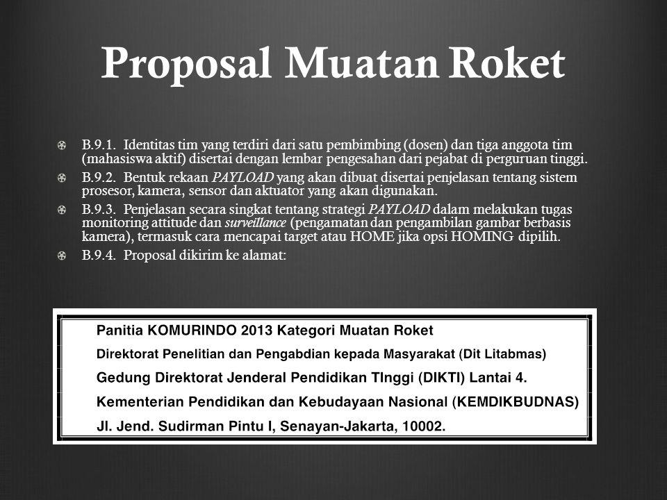 Proposal Muatan Roket