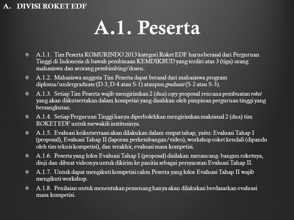 A.1. Peserta A. DIVISI ROKET EDF