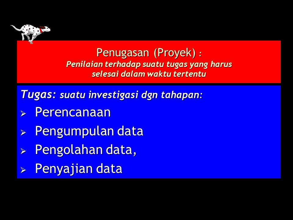 Perencanaan Pengumpulan data Pengolahan data, Penyajian data