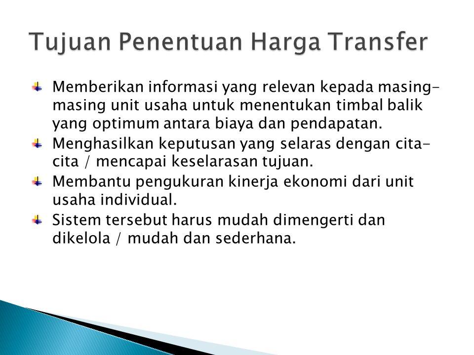 Tujuan Penentuan Harga Transfer