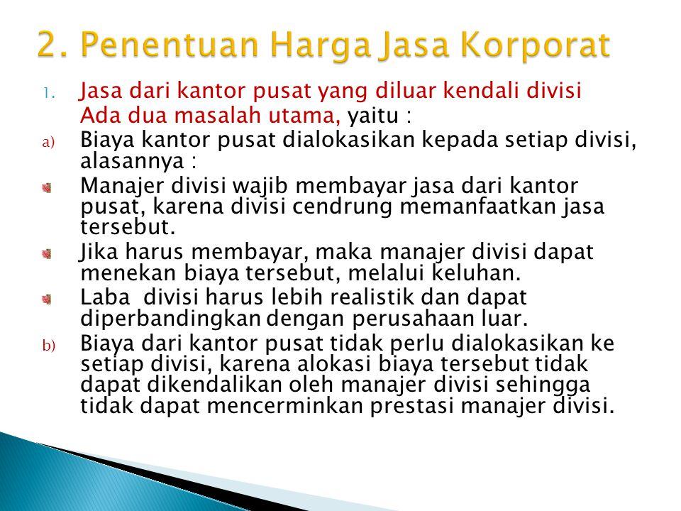 2. Penentuan Harga Jasa Korporat