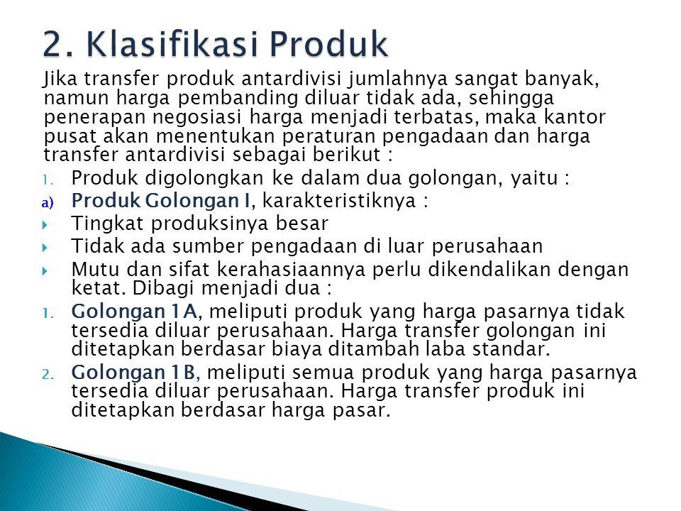 2. Klasifikasi Produk