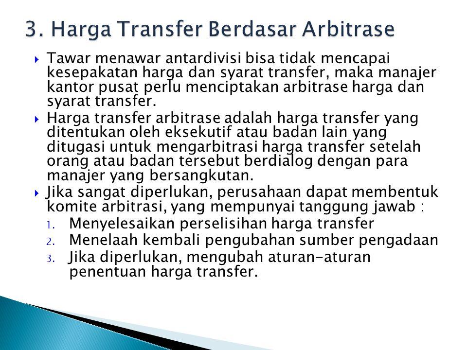3. Harga Transfer Berdasar Arbitrase