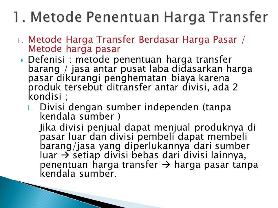 1. Metode Penentuan Harga Transfer