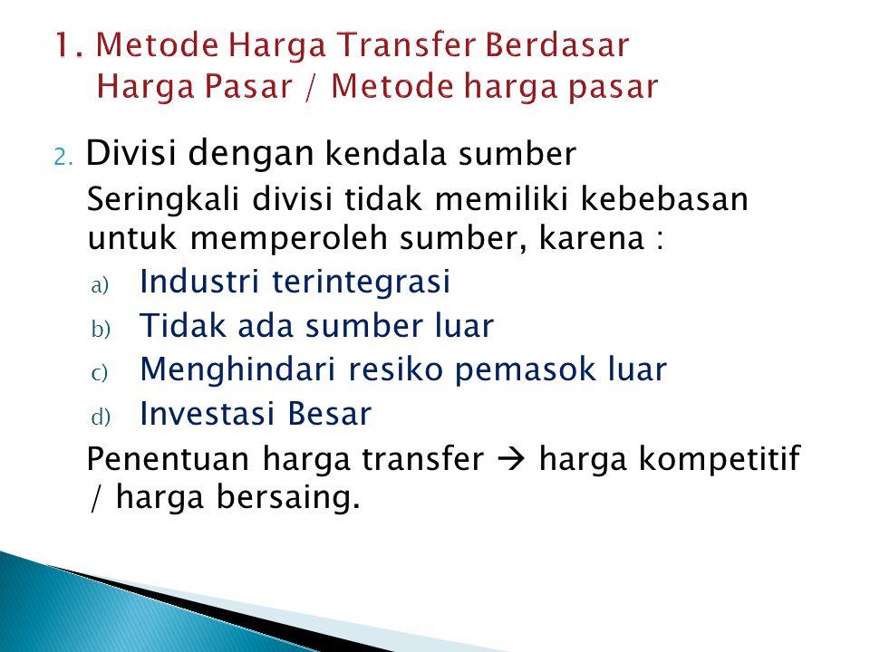 1. Metode Harga Transfer Berdasar Harga Pasar / Metode harga pasar