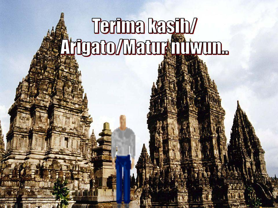Terima kasih/ Arigato/Matur nuwun.. TERIMA KASIH