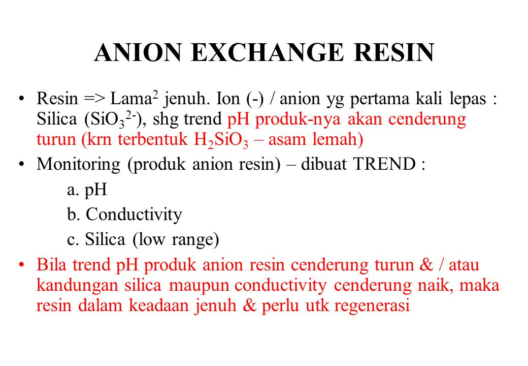 ANION EXCHANGE RESIN