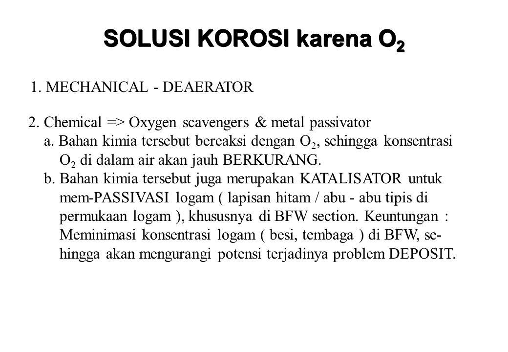 SOLUSI KOROSI karena O2 1. MECHANICAL - DEAERATOR