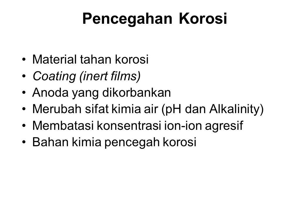 Pencegahan Korosi Material tahan korosi Coating (inert films)