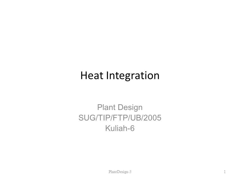 Plant Design SUG/TIP/FTP/UB/2005 Kuliah-6