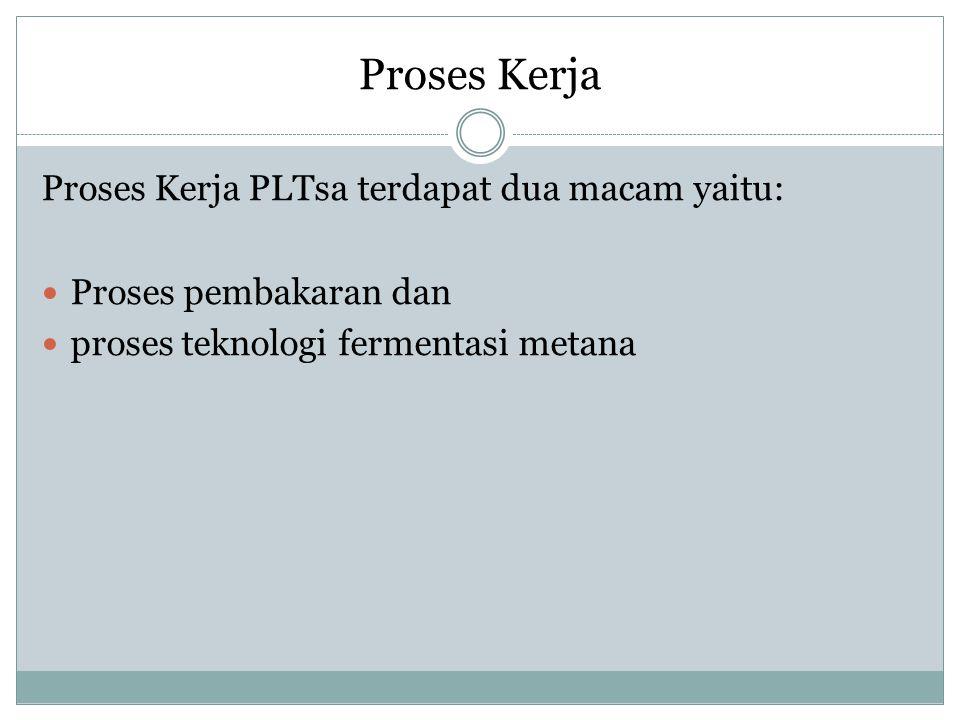 Proses Kerja Proses Kerja PLTsa terdapat dua macam yaitu: