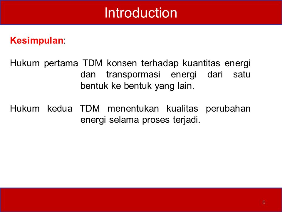 Introduction Kesimpulan: