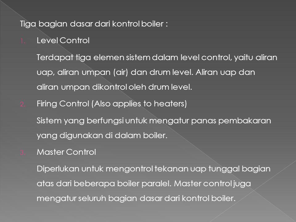 Tiga bagian dasar dari kontrol boiler :