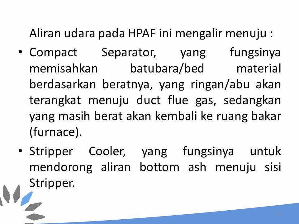 Aliran udara pada HPAF ini mengalir menuju :