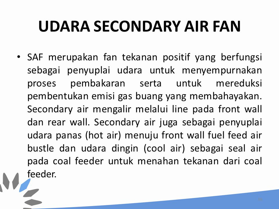 UDARA SECONDARY AIR FAN