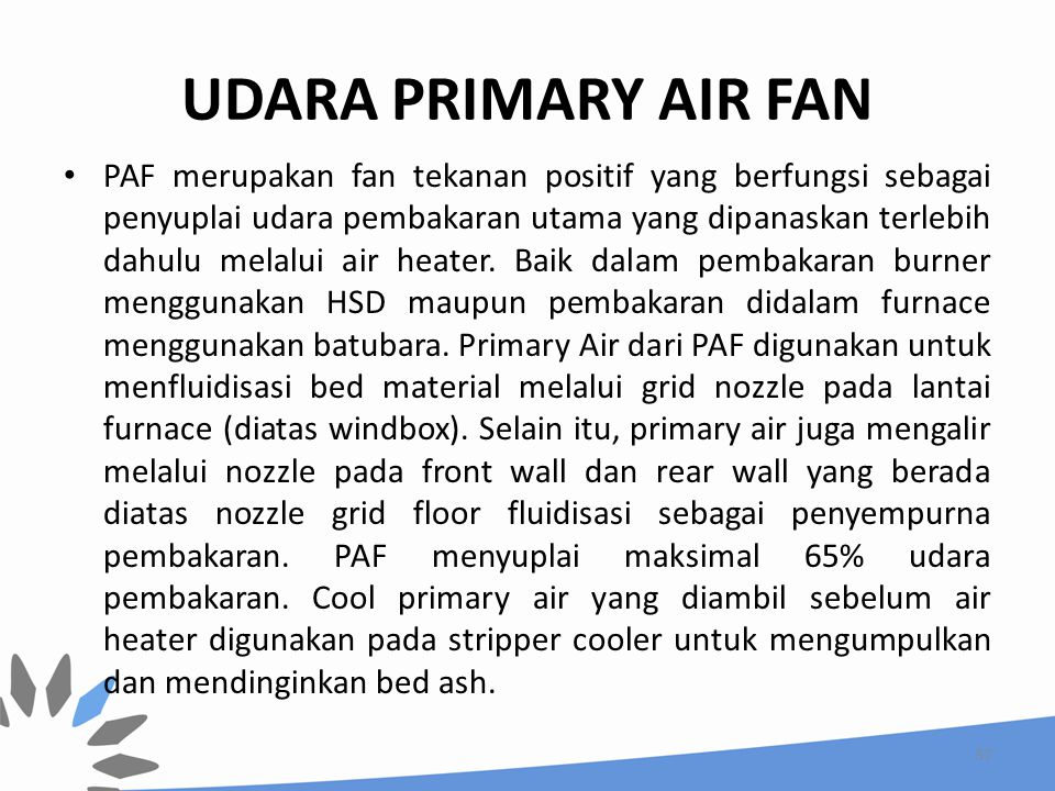 UDARA PRIMARY AIR FAN