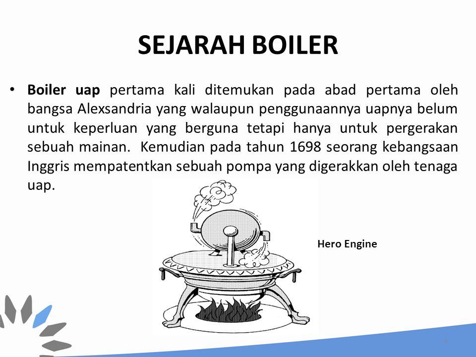 SEJARAH BOILER