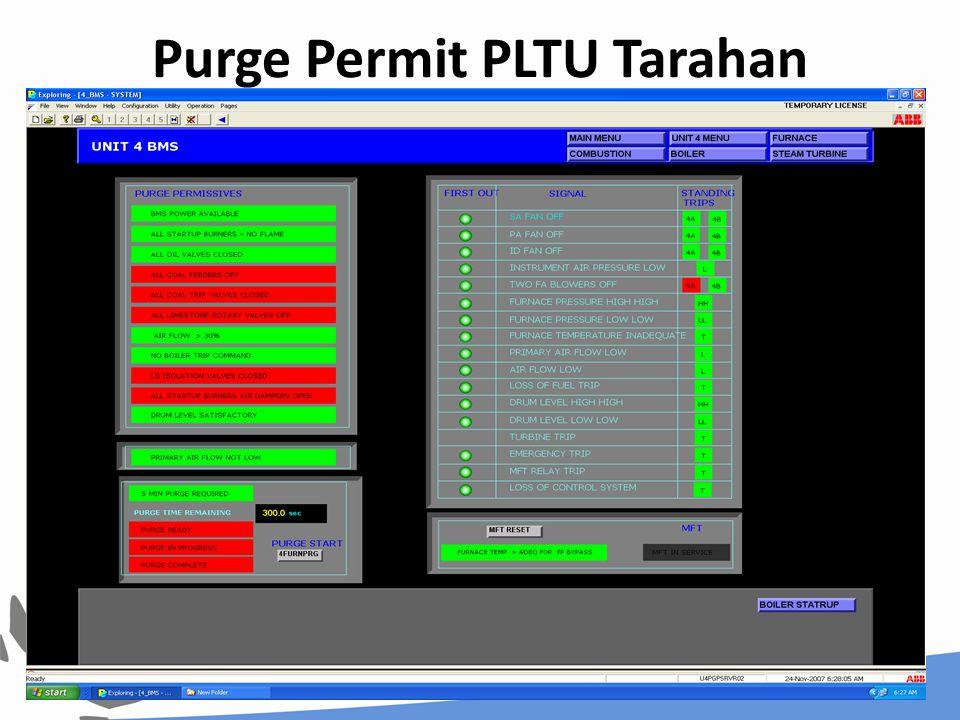 Purge Permit PLTU Tarahan