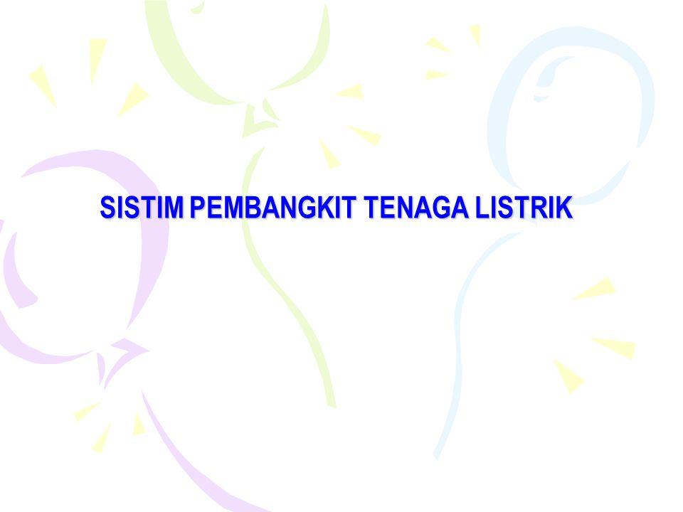 SISTIM PEMBANGKIT TENAGA LISTRIK